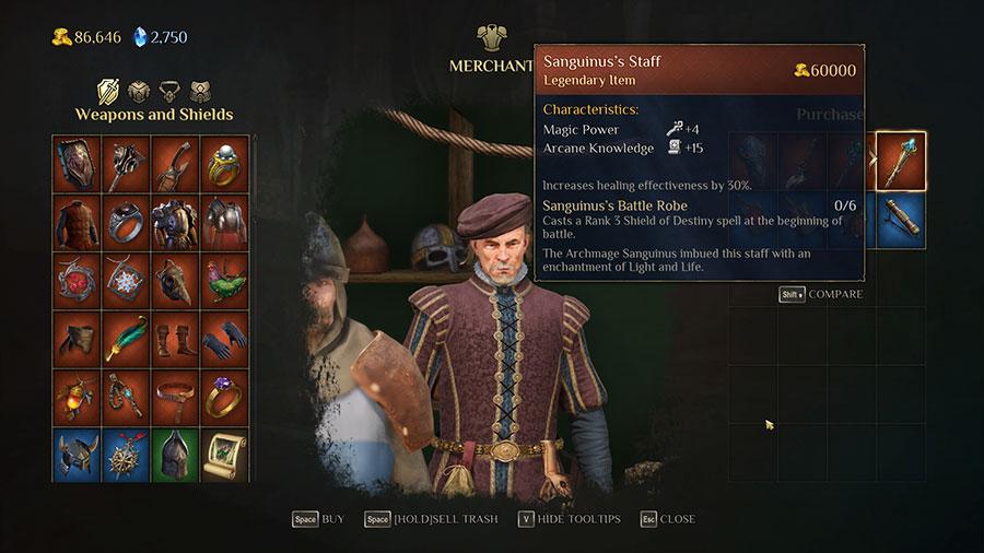 Sanguininus Battle Robe (Casts Rank 3 Shield of Destiny at the start of battle)