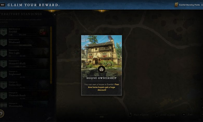 How To Get A House In New World