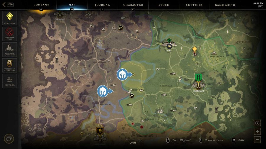 Map Showing Location Of Best Hemp Farming Spots In New World