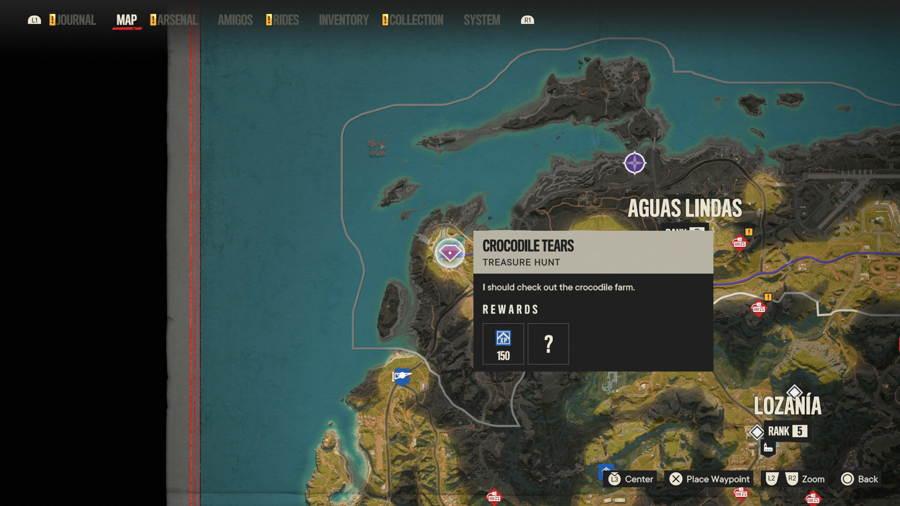 Croc tears Treasure Hunt Far Cry 6