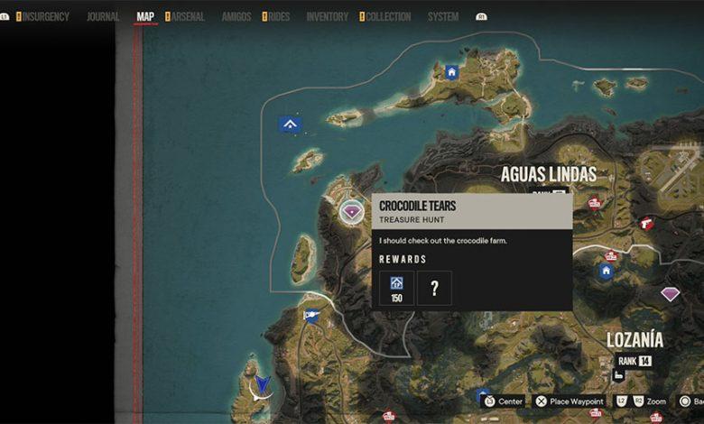 Far Cry 6 Crocodile Tears Treasure Hunt Guide