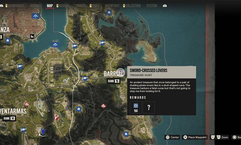 Far Cry 6 Sword-Crossed Lovers Treasure Hunt Guide