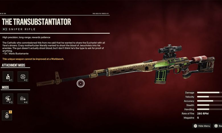 Where To Find The Transubstantiator In Far Cry 6